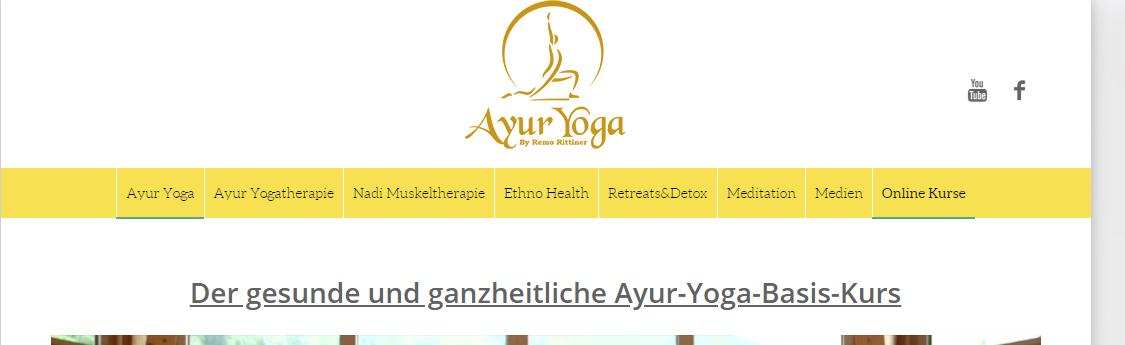 ayur-yoga-basis-kurs mitgliederbereich, remo rittiner